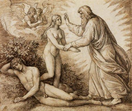 Julius Schnorr von Carolsfeld - The creation of Eve