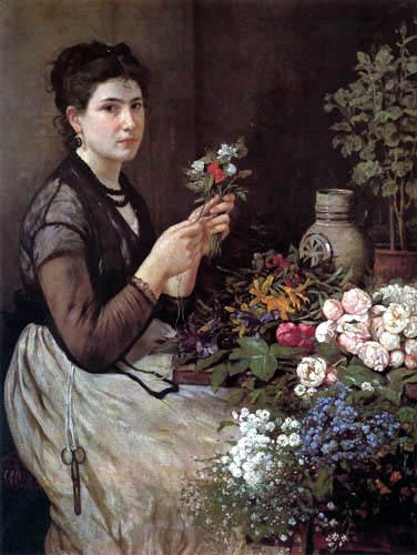 Otto Scholderer - Blumenmädchen