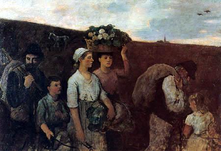 Otto Scholderer - Heimkehrende Landarbeiter