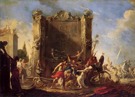 Johann Heinrich Schönfeld - Rape of the Sabine Women