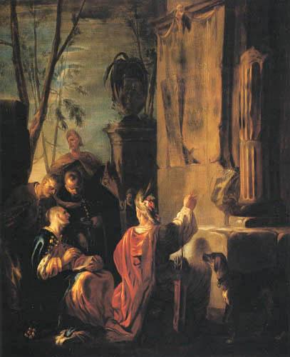 Johann Heinrich Schönfeld - Die Grabstätte des Ovid