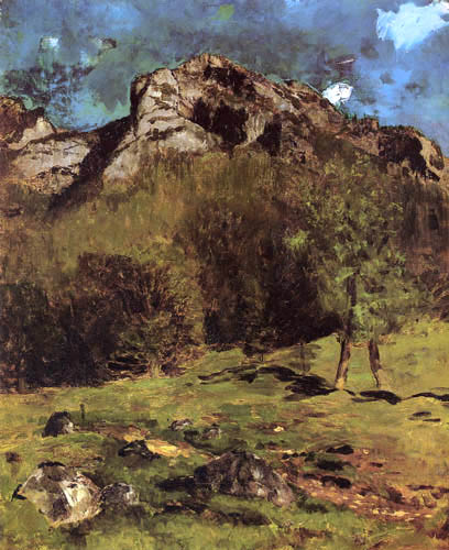 Carl Schuch - Mountain landscape in South Tyrol