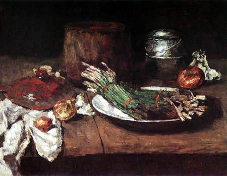 Carl Schuch - Still life with vegetables
