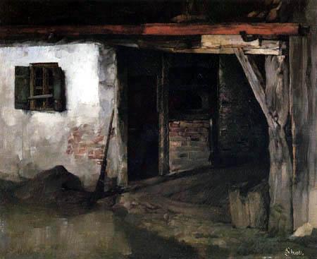 Carl Schuch - Smithy in Wessling