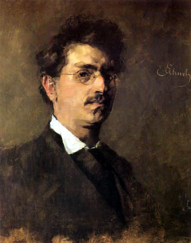Carl Schuch - Self portrait