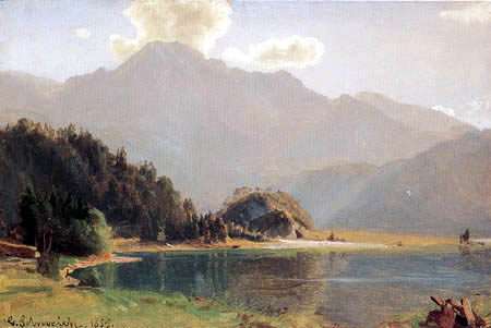 Carl Schweich - Sea-landscape in Bavaria