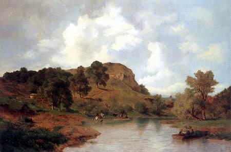 Carl Schweich - River landscape