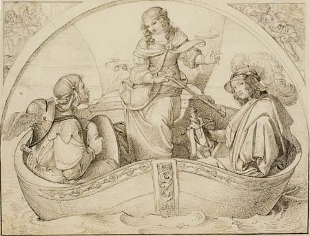Moritz von Schwind - Le navire du Tasso