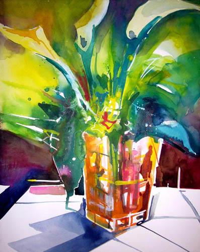 Rainer Sebald - Cala in gelber Vase