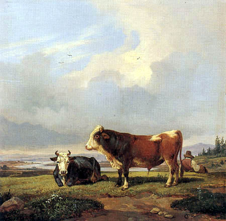 Karl Ludwig Seeger - Cows on the pasture