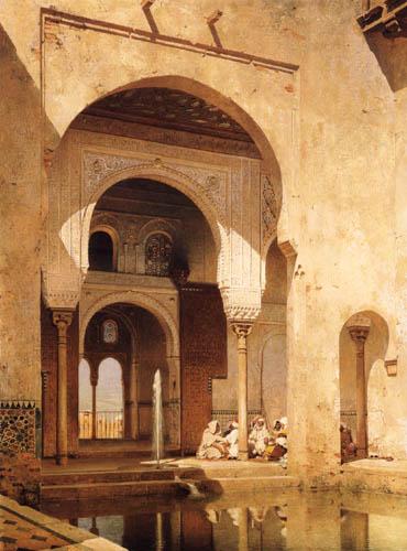 Adolf Seel - Im Nasridenpalast in der Alhambra, Granada