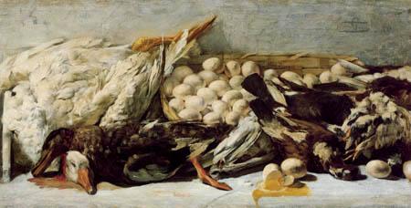 Giovanni Segantini - Stillleben mit totem Geflügel