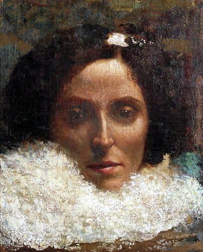 Giovanni Segantini - Porträt Leopoldina Grubicy