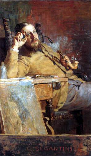 Giovanni Segantini - Porträt Vittore Grubicy