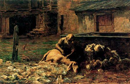 Giovanni Segantini - Aus einem Schäfers Leben