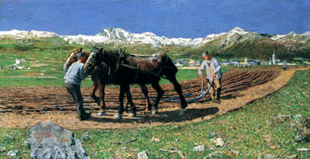 Giovanni Segantini - Farmers working