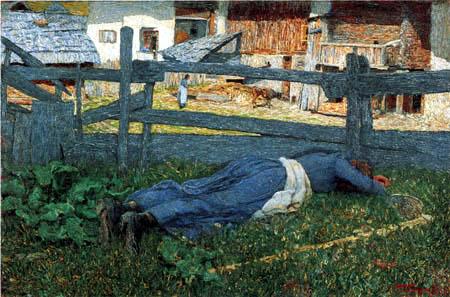 Giovanni Segantini - Break in the shade