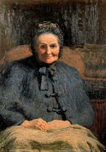 Giovanni Segantini - Porträt Signora Casiraghi Oriani