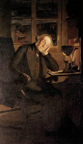 Giovanni Segantini - Porträt Carlo Rotta