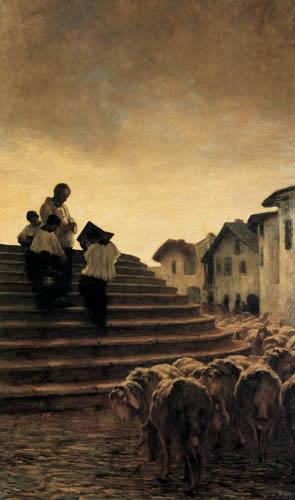 Giovanni Segantini - Die Predigt