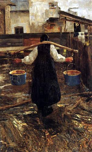 Giovanni Segantini - Die Wasserträgerin