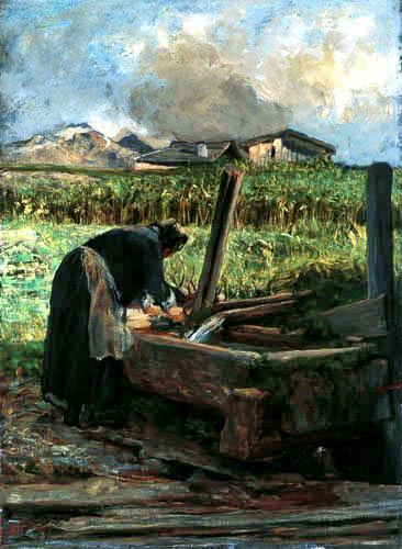 Giovanni Segantini - Die Wäscherin