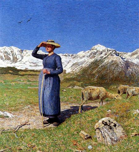 Giovanni Segantini - Midday in the Alps