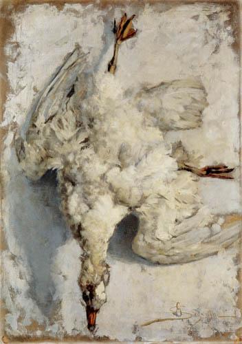 Giovanni Segantini - Eine tote Gans