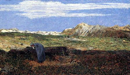 Giovanni Segantini - Frau am Wassertrog