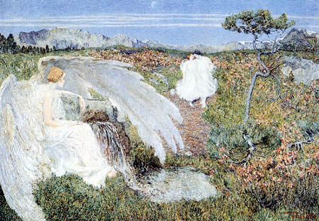 Giovanni Segantini - Amor at the life well, Fountain of Youth