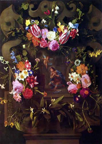 Daniel Seghers - Garland of Flowers
