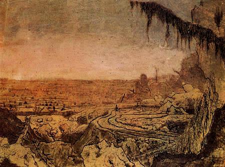 Hercules Pietersz. Seghers - Landschaft mit Tannenzweig