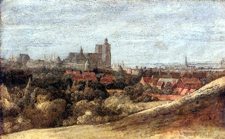 Hercules Pietersz. Seghers - View of Brussels from North east
