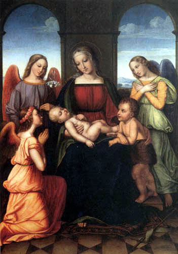 Louise Caroline Seidler - Maria with child and angels