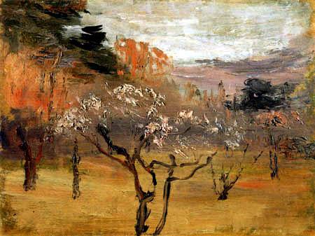 Kuroda Seiki - Garten mit Pflaumenbäumen