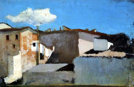 Raffaello Sernesi - Dächer in der Sonne