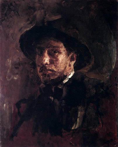 Valentin Alexandrowitsch Serow - Selbstbildnis mit Hut