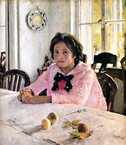 Valentin Alexandrowitsch Serow - Vera Mamontowa mit Pfirsichen