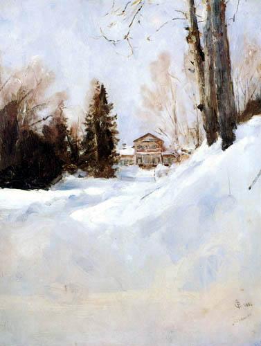 Valentin Alexandrowitsch Serow - Winter in Abramzewo
