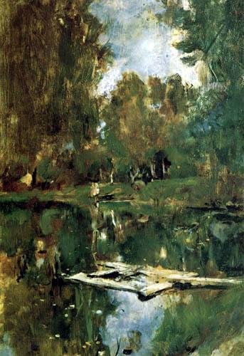 Valentin Alexandrowitsch Serow - Kleiner Teich in Abramzewo
