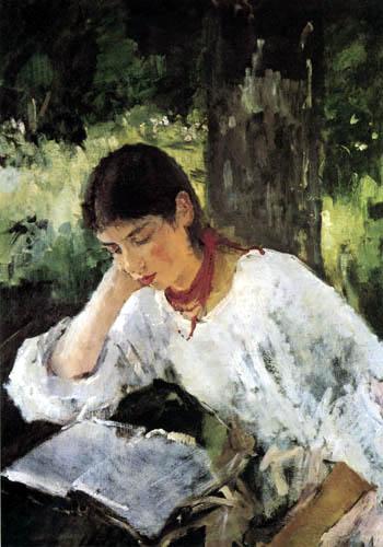 Valentin Alexandrowitsch Serow - Adelaide Simonowitscha, reading