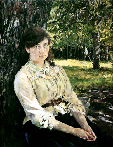Valentin Alexandrowitsch Serow - Maria Simonowitsch im Sonnenschein