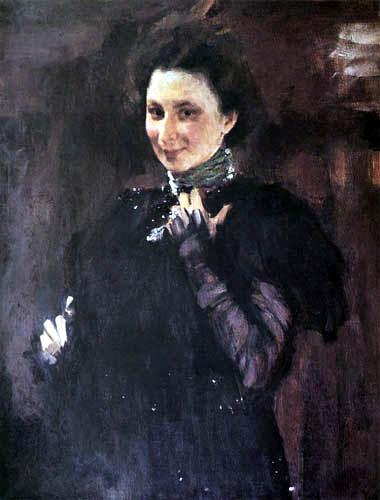 Valentin Alexandrowitsch Serow - Mara Oliv mit Halstuch