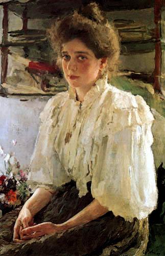 Valentin Alexandrowitsch Serow - Portrait of Maria Lwowa