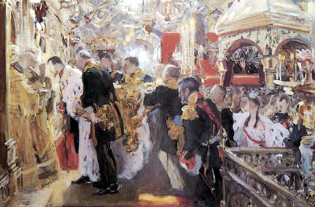 Valentin Alexandrowitsch Serow - Die Krönung Nikolaus II.