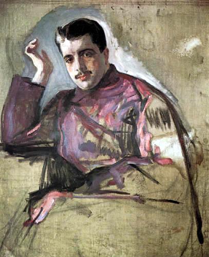 Valentin Alexandrowitsch Serow - Portrait of Sergei Djagilew