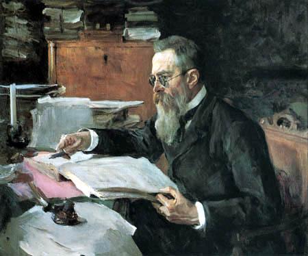 Valentin Alexandrowitsch Serow - The Composer Nikolai Rimski-Korsakow