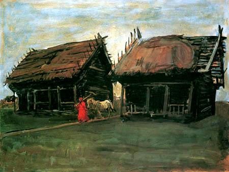 Valentin Alexandrowitsch Serow - Bauernhäuser
