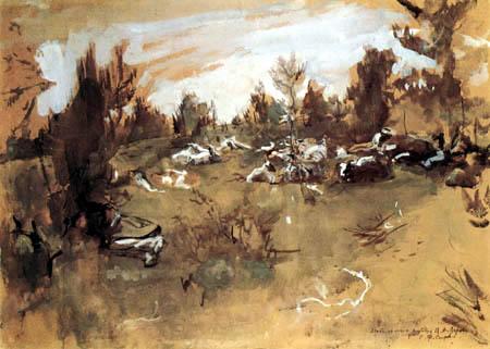 Valentin Alexandrowitsch Serow - A herd of sheep