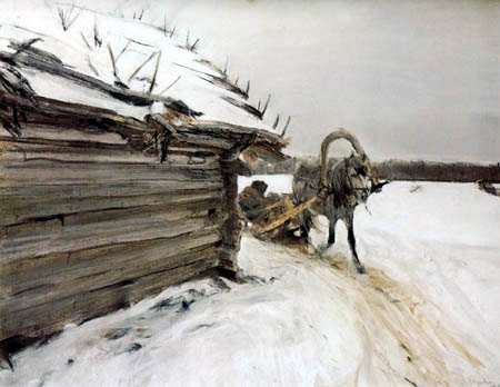 Valentin Alexandrowitsch Serow - Pferdeschlitten im Winter